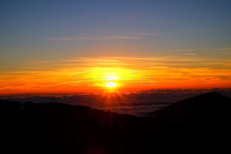 Sonnenaufgangansicht von Thailand stockfoto