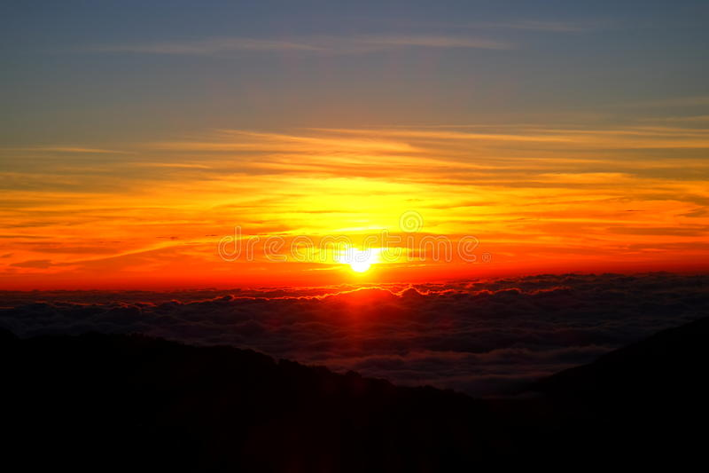 Sonnenaufgangansicht von Thailand stockfotos