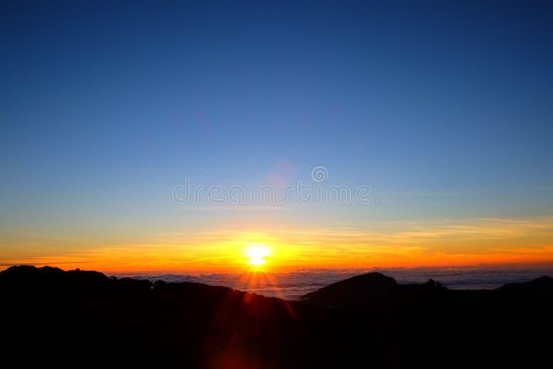 Sonnenaufgangansicht von Thailand lizenzfreies stockbild