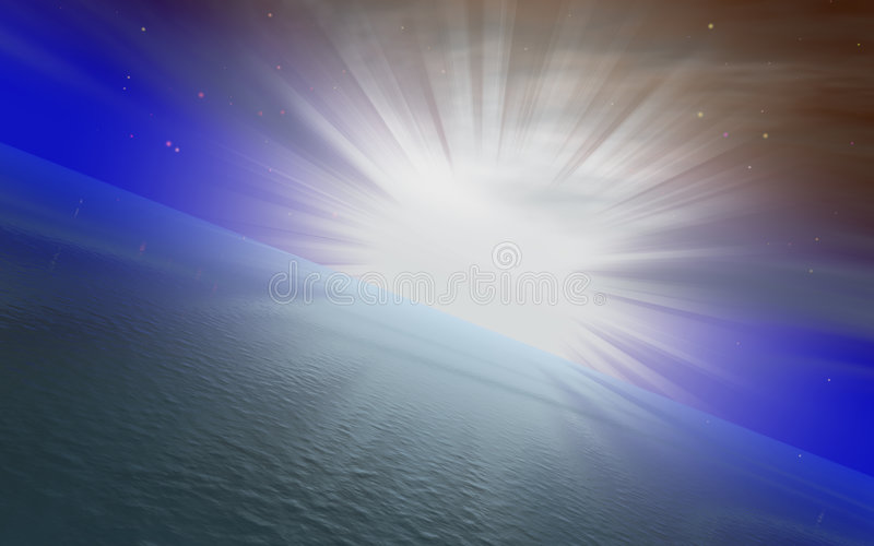 Sonnenaufgangkonzept vektor abbildung