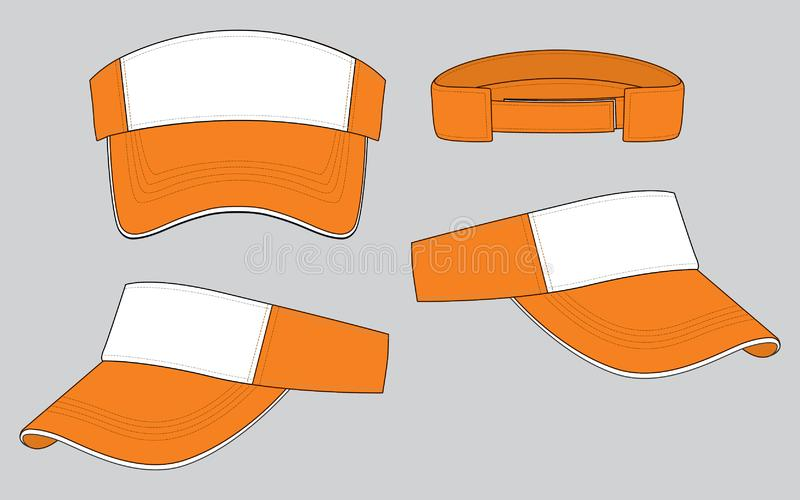 Sonnenblende-Entwurfs-Vektor: Weiß/Orange stock abbildung