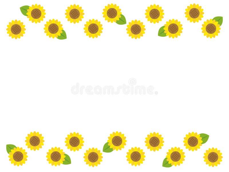Sonnenblume frame1 stock abbildung