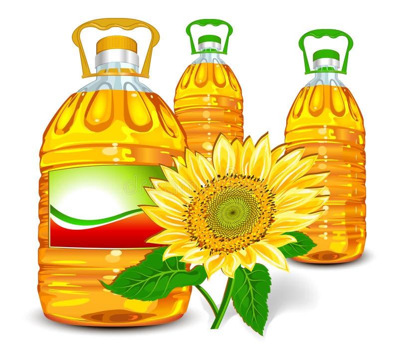 Sonnenblumenöl vektor abbildung