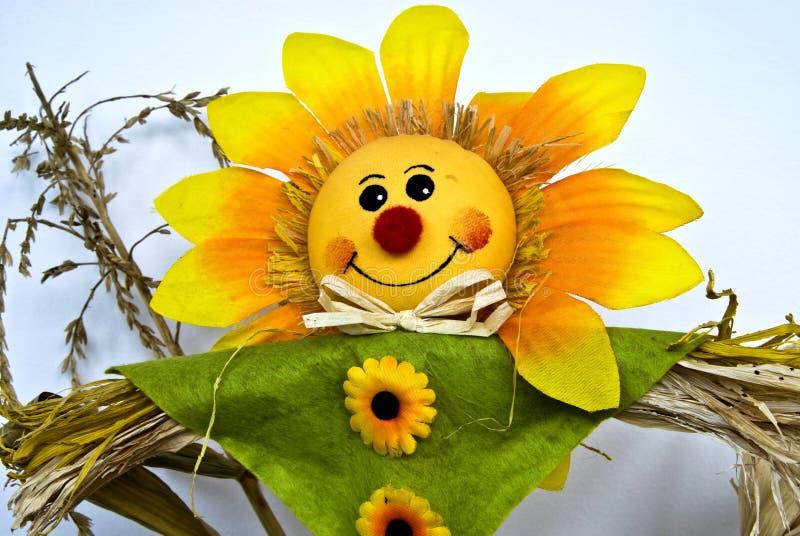 Sonnenblumepuppe stockfoto