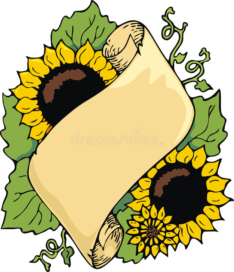 Sonnenblumerolle lizenzfreie abbildung