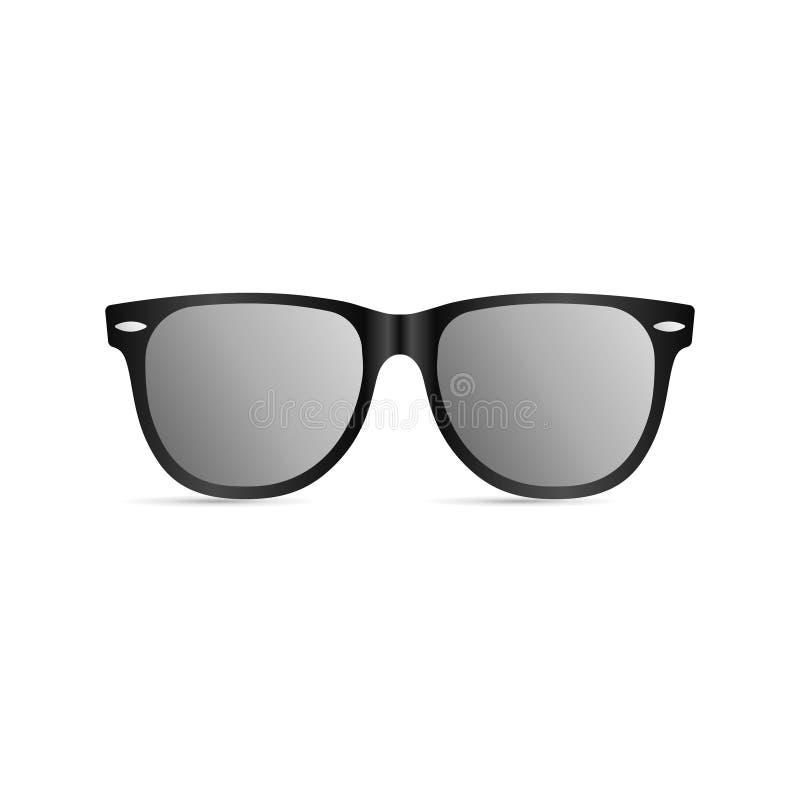 Sonnenbrille mit schwarzem Plastikrahmen vektor abbildung