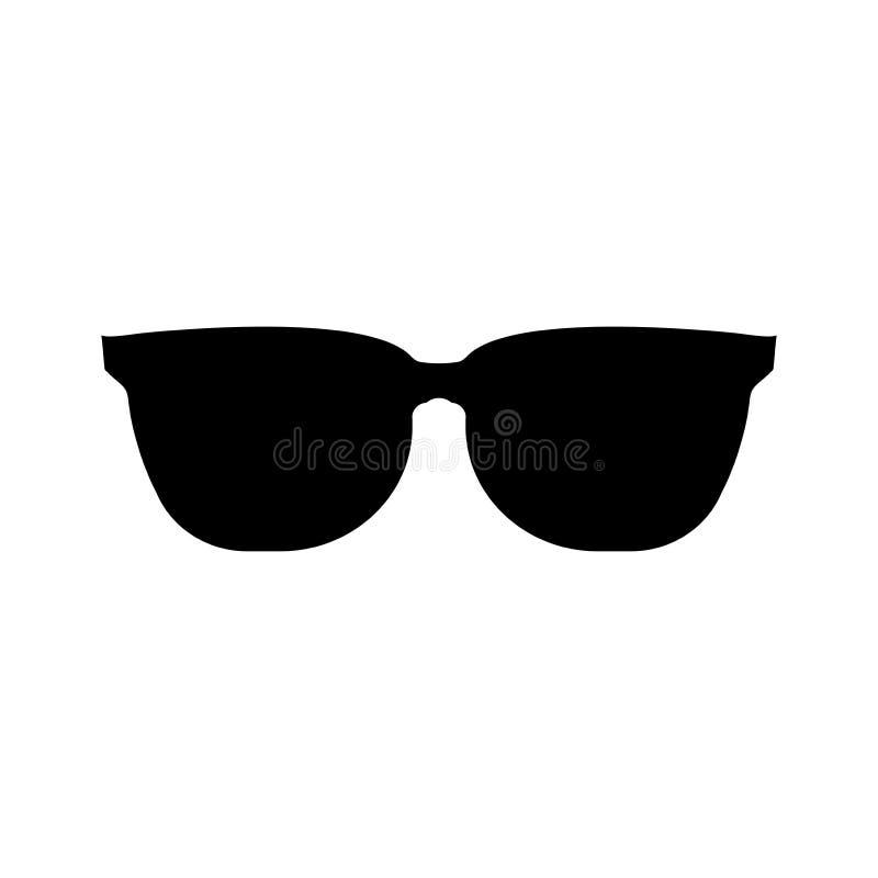 Sonnenbrille-schwarze Ikone auf weißem Hintergrund Abbildung vektor abbildung