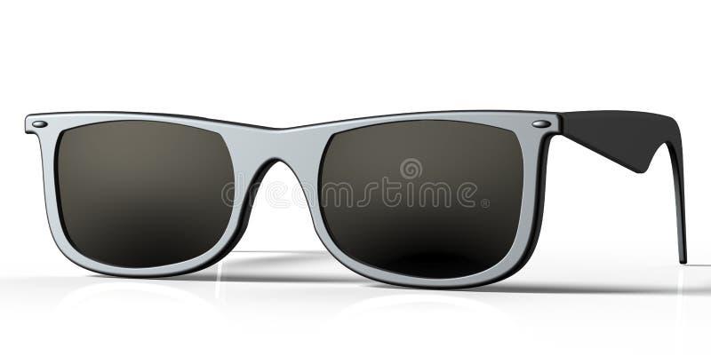 Sonnenbrillen auf einem hinteren Boden stock abbildung
