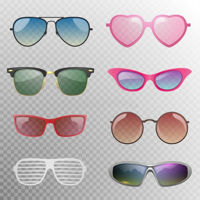 Sonnenbrillen eingestellt vektor abbildung