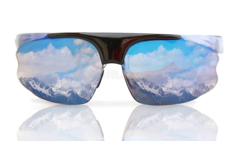 Sonnenbrillen getrennt stockbilder