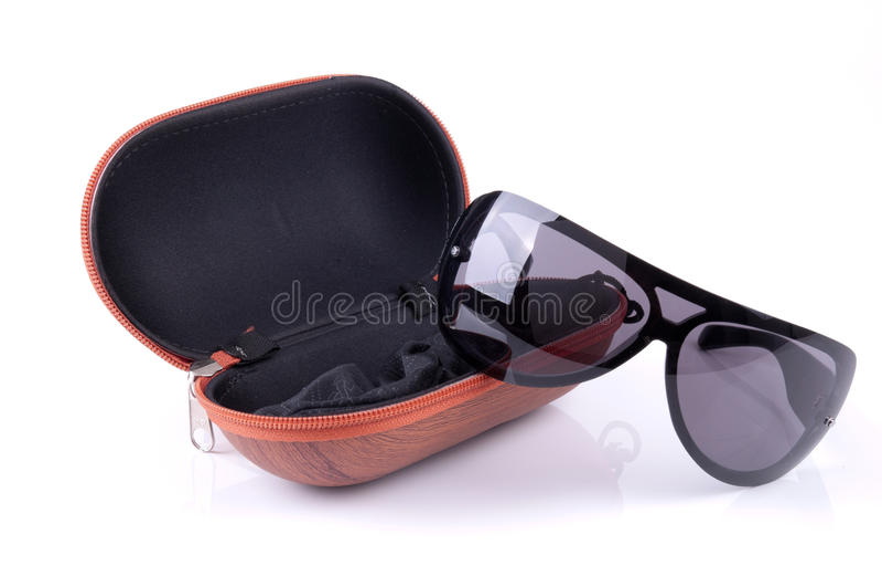 Sonnenbrillen und Fall stockbilder
