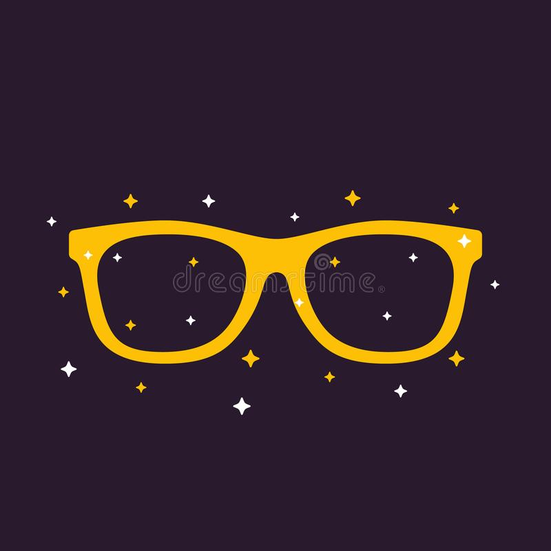 Sonnenbrilleschattenbild-Vektorillustration stock abbildung