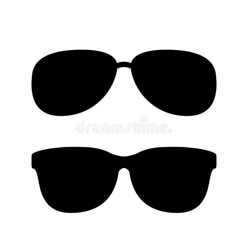 Sonnenbrillevektorikone lizenzfreie abbildung
