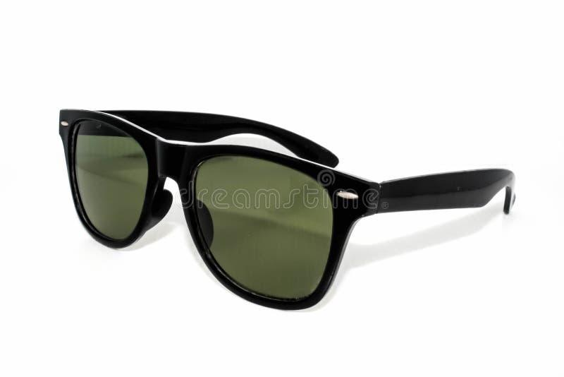Sonnenbrilleweißhintergrund stockfotografie
