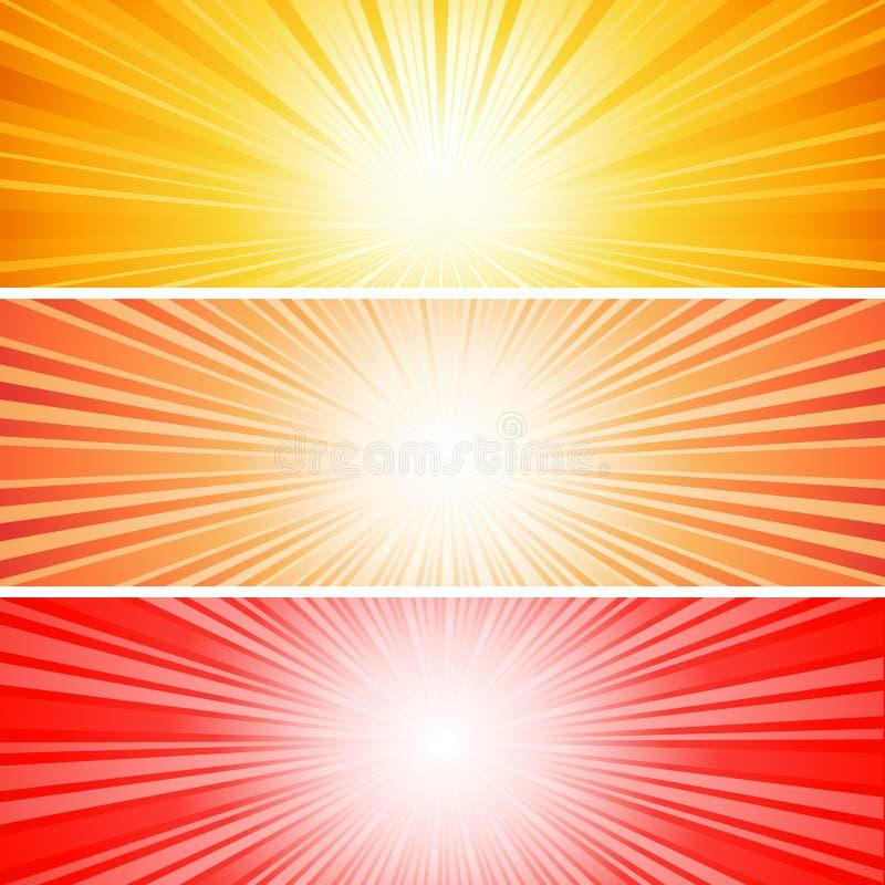Sonnendurchbruch stock abbildung
