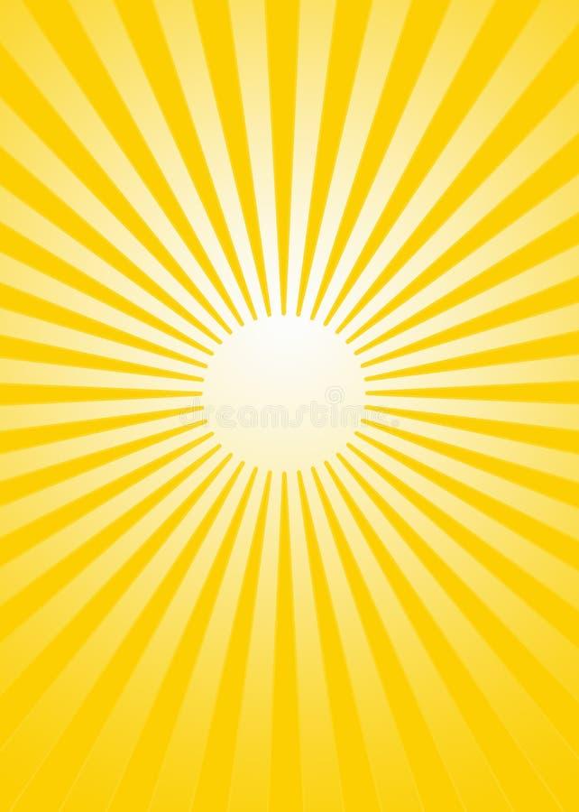 Sonnendurchbruch lizenzfreie abbildung