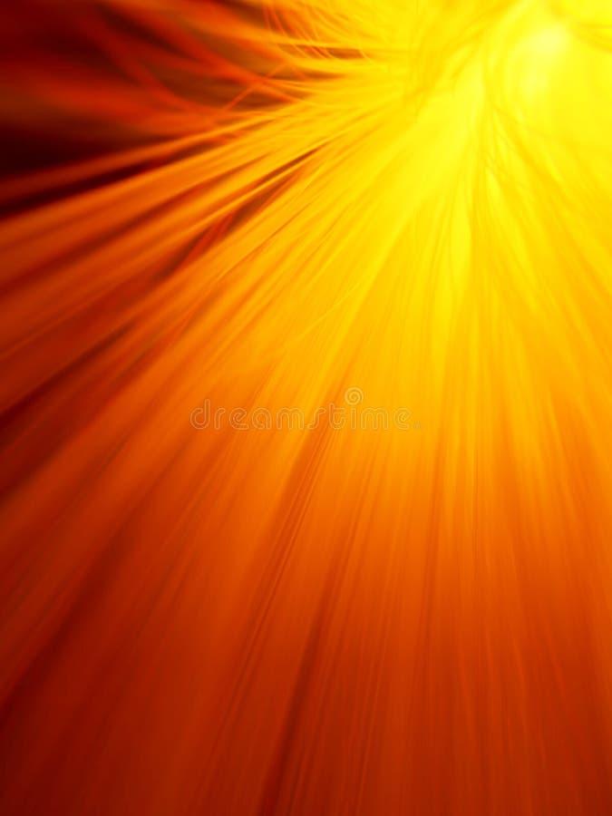 Sonnendurchbruch im Feuerrot lizenzfreie abbildung
