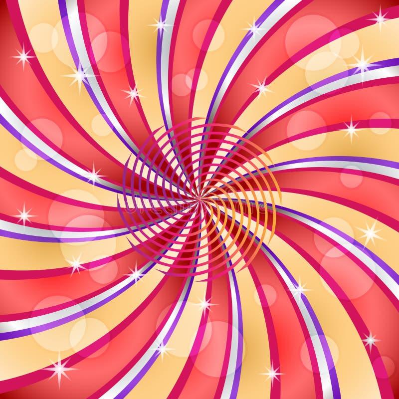 Sonnendurchbruch mit einer Mittelspirale vektor abbildung