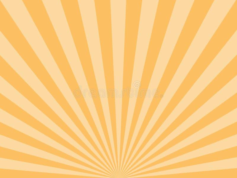 Sonnendurchbruch, starburst Hintergrund, zusammenlaufende Linien Auch im corel abgehobenen Betrag lizenzfreie abbildung