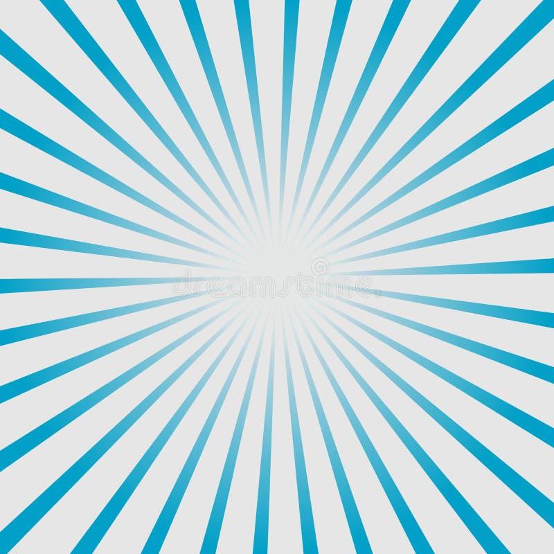 Sonnendurchbruch, starburst Hintergrund, zusammenlaufende Linien Auch im corel abgehobenen Betrag stock abbildung