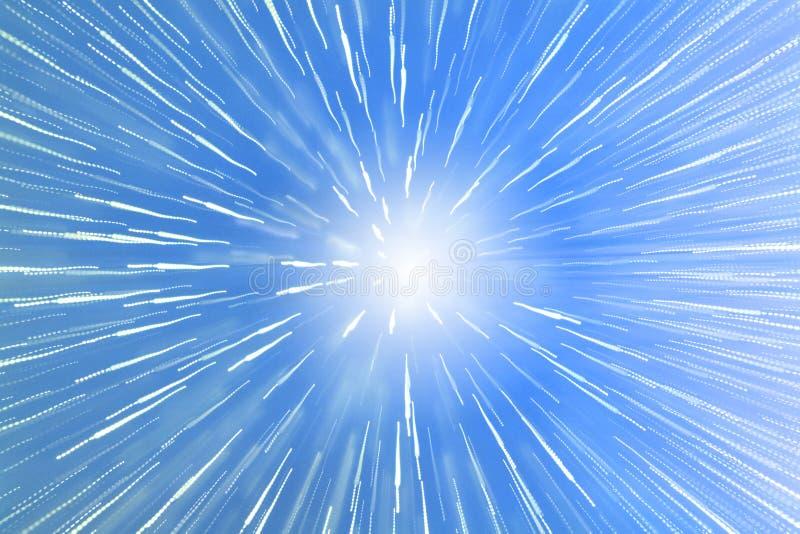 Sonnendurchbruch-Zoom-Effekt stockbilder