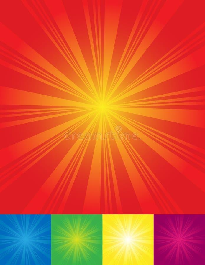 Sonnendurchbruchhintergründe stock abbildung