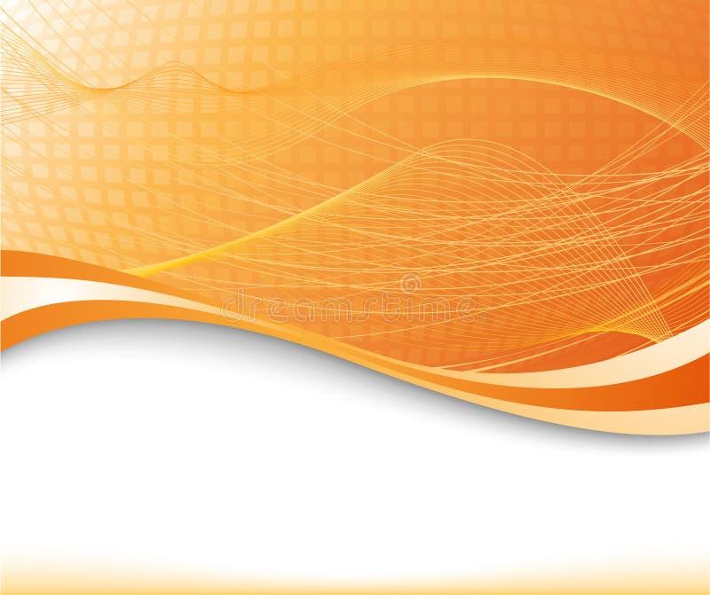 Sonnendurchbruchhintergrund in der orange Farbe gemasert vektor abbildung