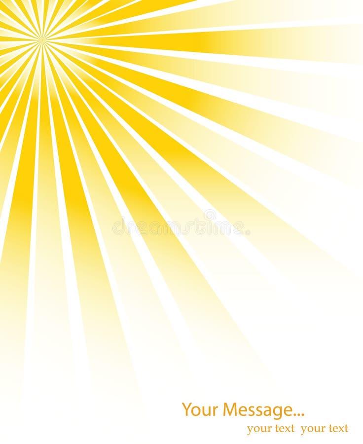 Sonnendurchbruchvektorhintergrund vektor abbildung