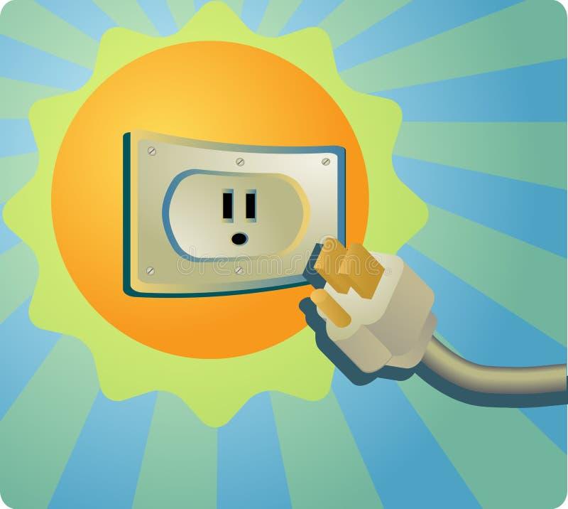 Sonnenenergie lizenzfreie abbildung