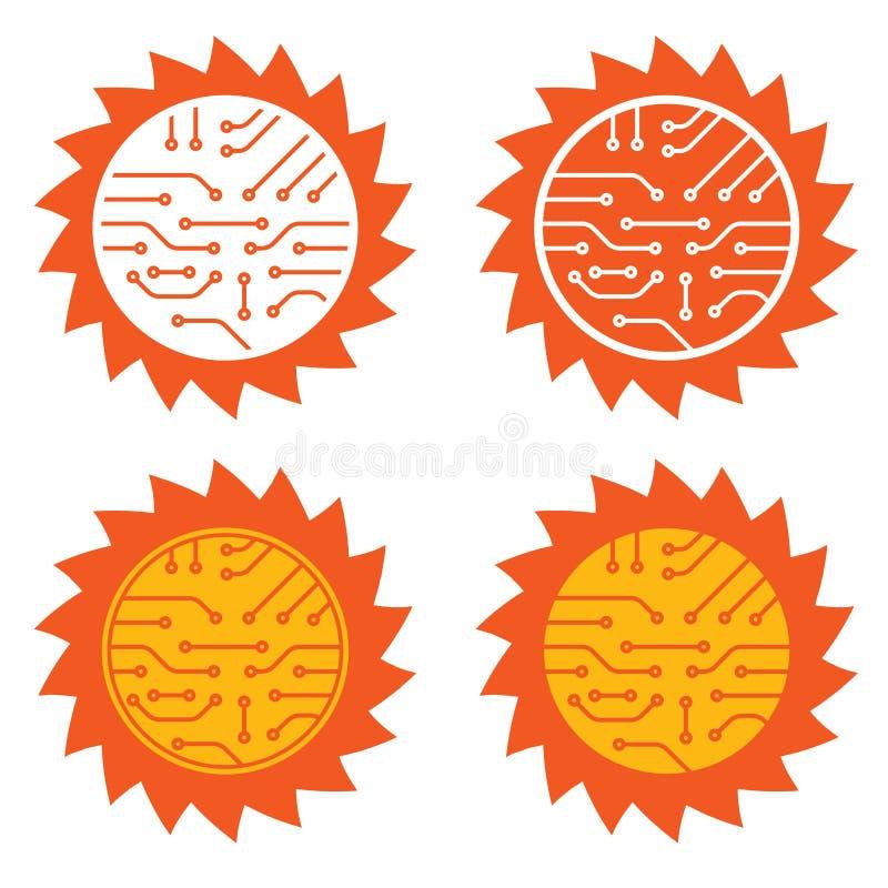 Sonnenenergiekreisläuf lizenzfreie abbildung