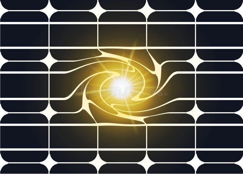 Sonnenenergiepanel stock abbildung