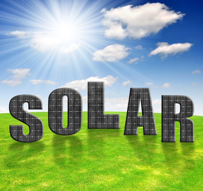 Sonnenenergiepanels stockfotografie