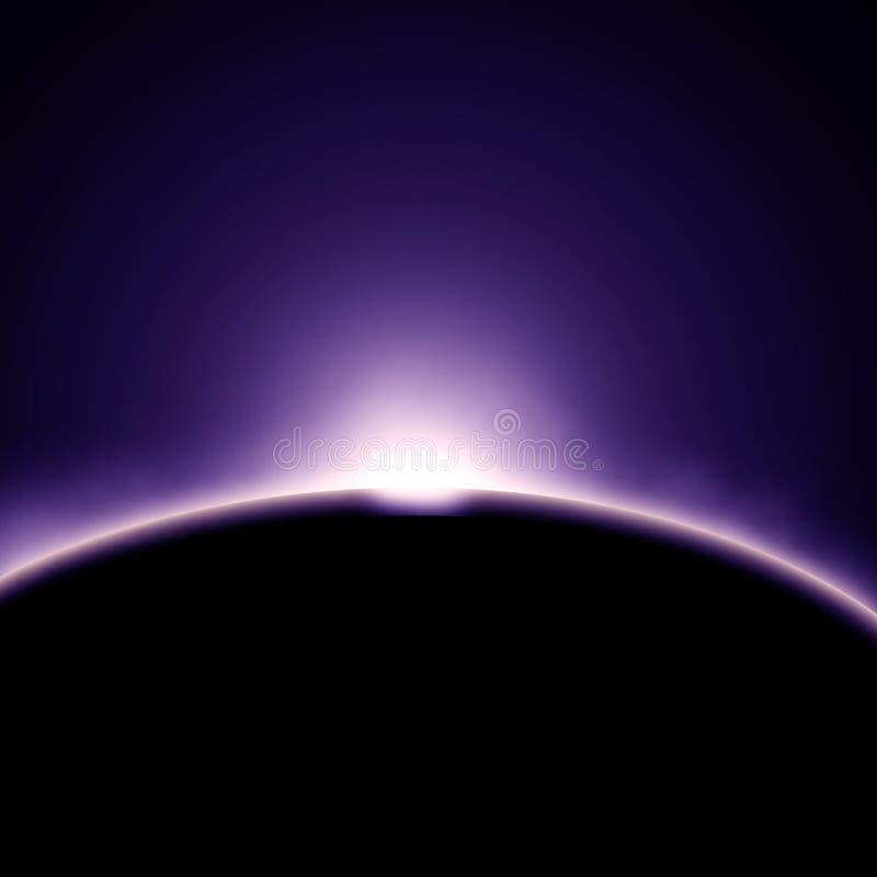 Sonnenfinsternis stock abbildung