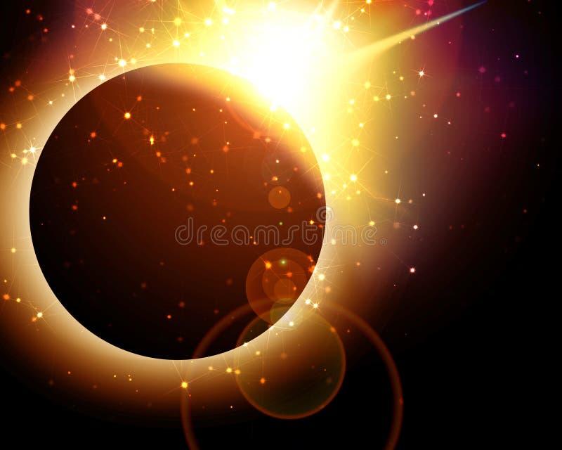 Sonnenfinsternis lizenzfreie abbildung