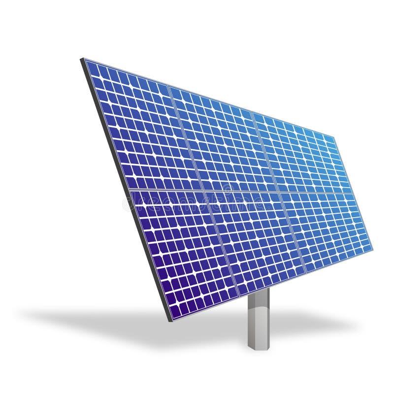 Sonnenkollektor. Ökologische Leistung. stock abbildung