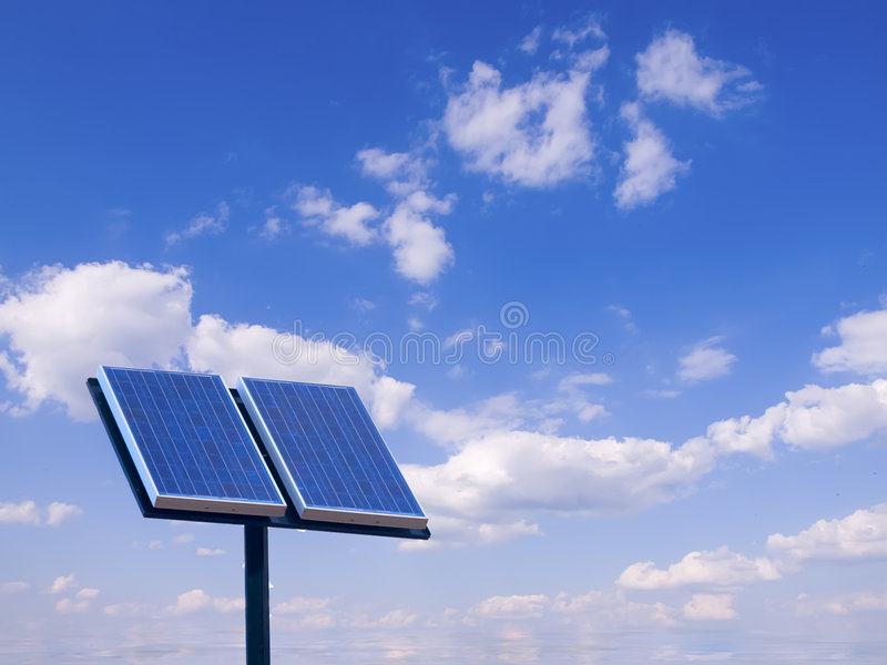 Sonnenkollektor lizenzfreie stockfotografie