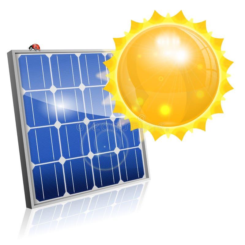 Sonnenkollektor vektor abbildung
