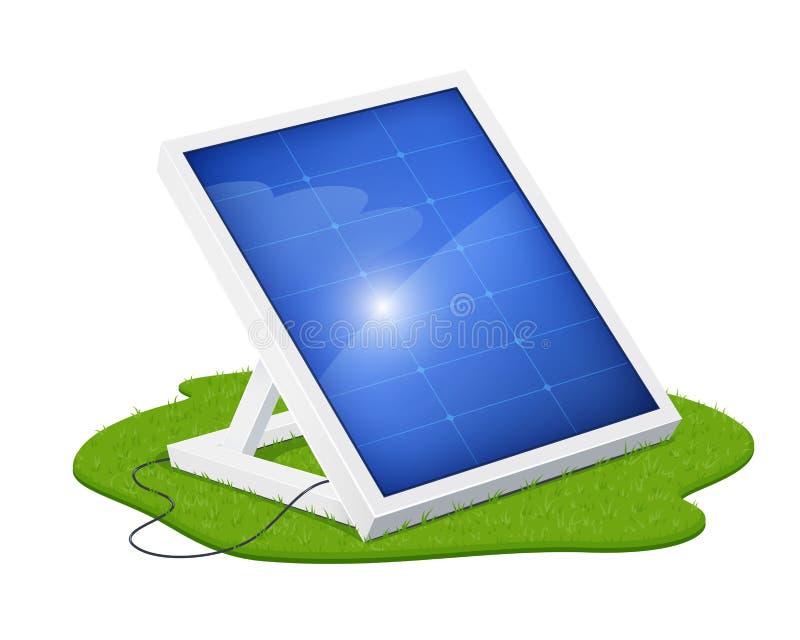 Sonnenkollektor für alternative Energie Ökologisches System lizenzfreie abbildung