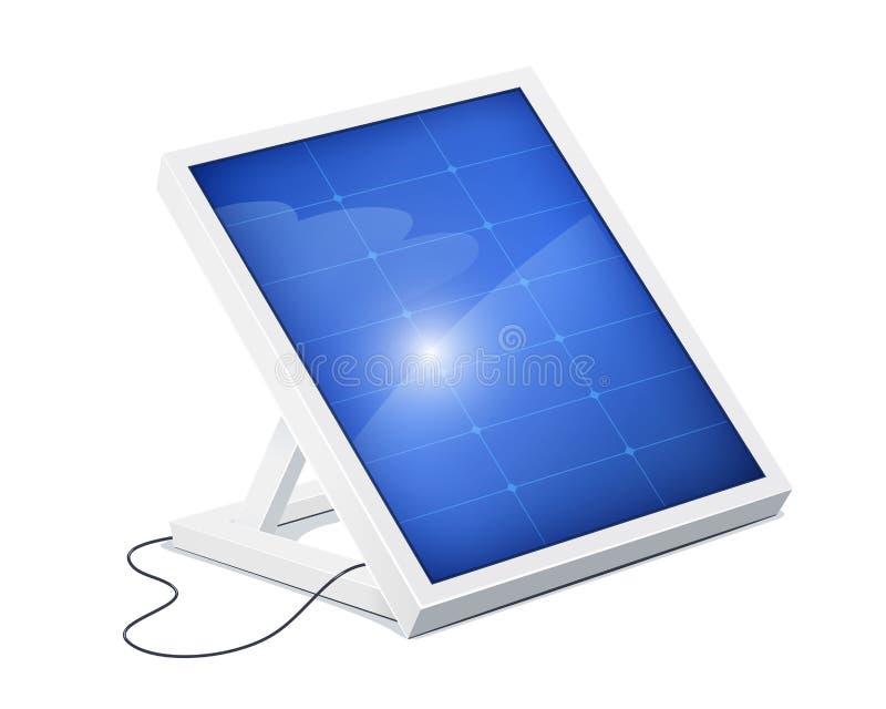 Sonnenkollektor für alternative Energie Ökologisches System vektor abbildung