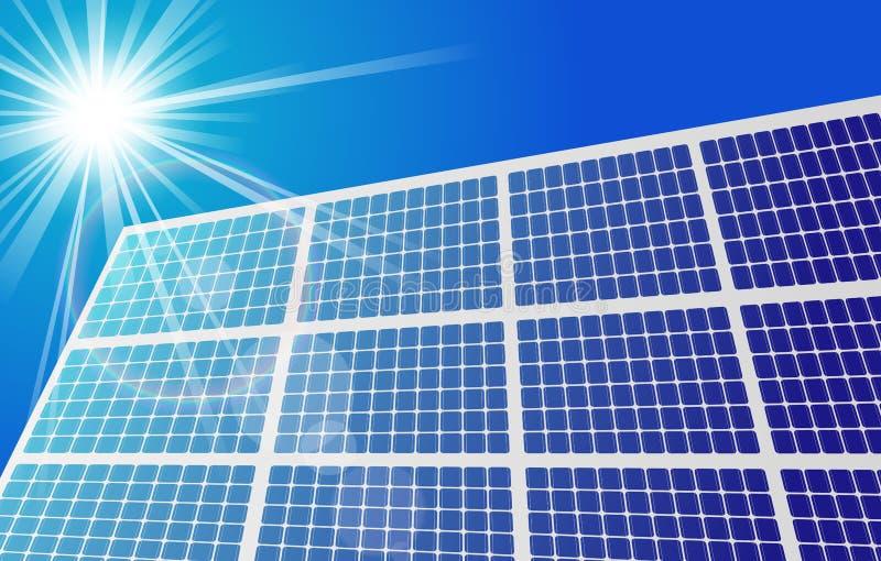 Sonnenkollektor gegen blauen Himmel vektor abbildung