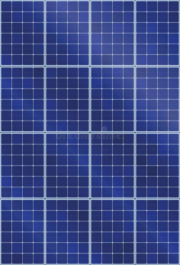 Sonnenkollektor-Kollektor-Hochformat vektor abbildung