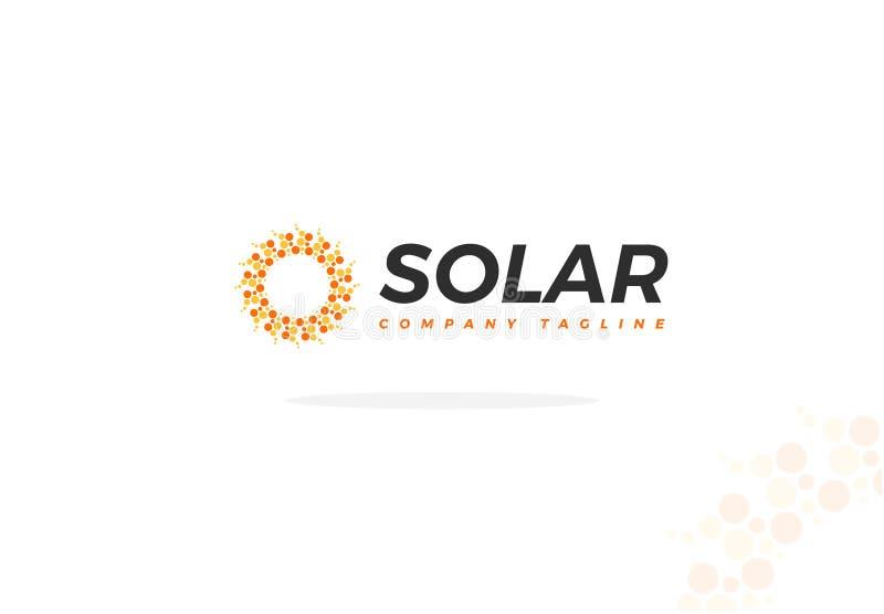 Sonnenkollektor Logo Vector In Abstract Shape von The Sun vektor abbildung