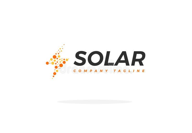 Sonnenkollektor Logo Vector Energy Power Shape vektor abbildung