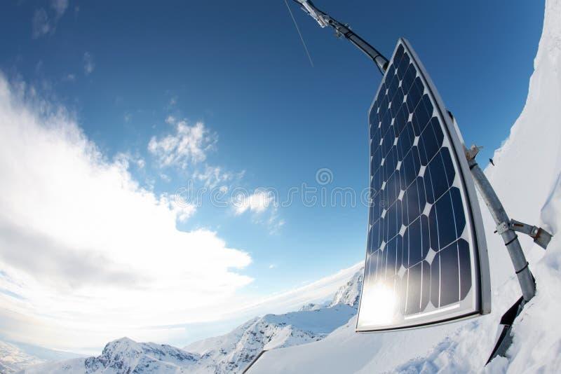 Sonnenkollektor-Reihe stockbilder