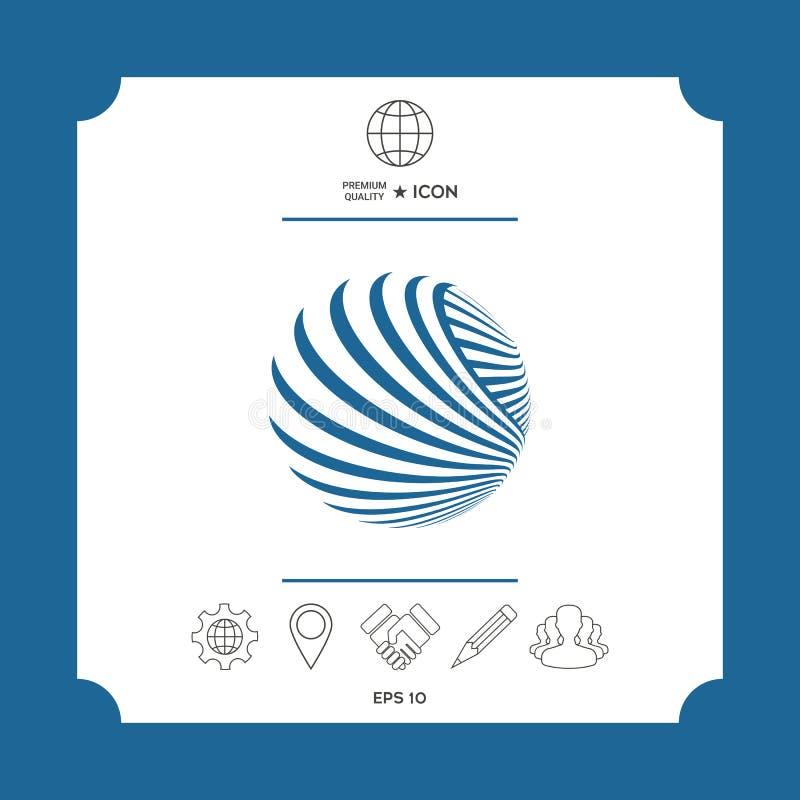 Sonnenkollektor und Zeichen für alternative Energie Erde lizenzfreie abbildung