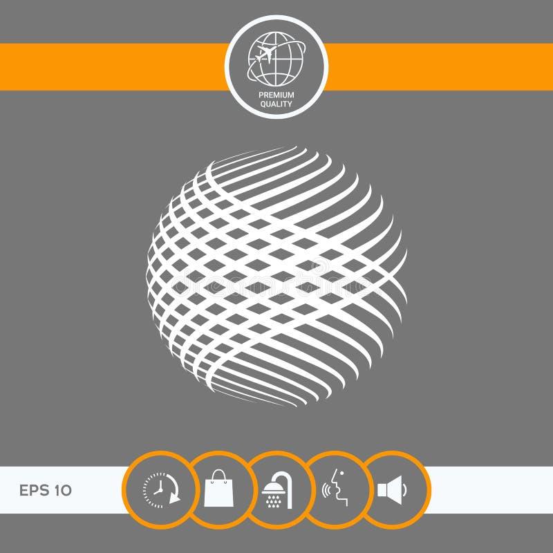 Sonnenkollektor und Zeichen für alternative Energie Erdsymbol lizenzfreie abbildung
