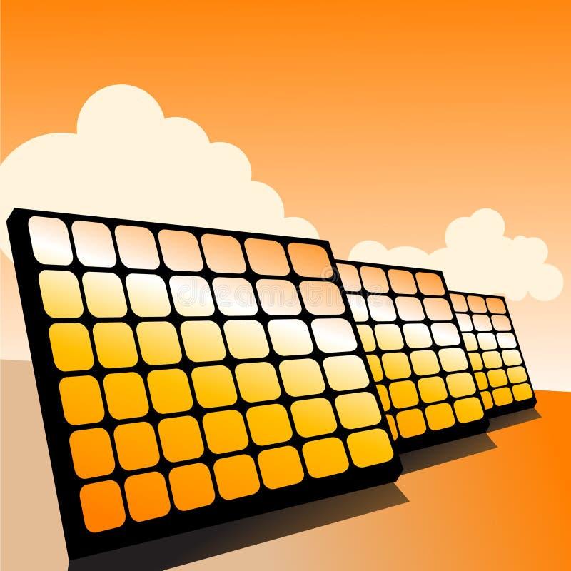 Sonnenkollektoren lizenzfreie abbildung