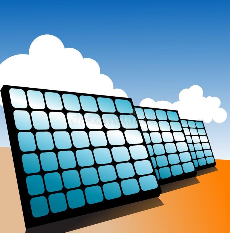 Sonnenkollektoren stock abbildung