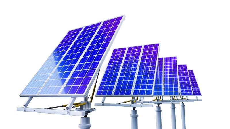 Sonnenkollektoren auf einem Dach vektor abbildung