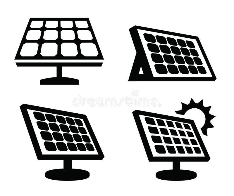 Sonnenkollektorikone lizenzfreie abbildung